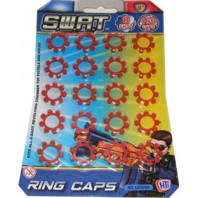 160 Swat Mission 8-Shot Cap Gun Caps (20 x 8-shot cap rings)