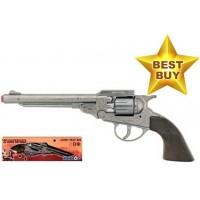 Gonher 27.5cm Diecast Metal 8-Shot Cowboy Style Cap Gun Pistol