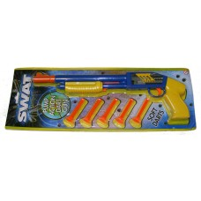 Swat 36cm Plastic Pump Action Dart Rifle with 5 Soft Darts